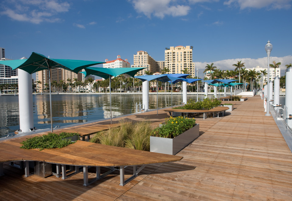 West Palm Beach Waterfront Commons Floating Docks